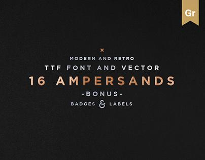 16 Ampersands Font