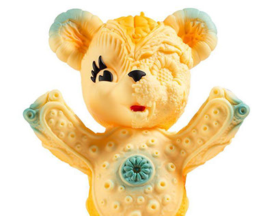 Free Hugs Bear Development for Frank Kozik & Kidrobot