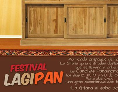 Pieza Gráfica Festival LAGIPAN, La Gitana