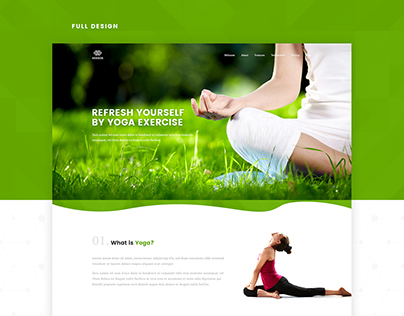 Fitness and Yoga Landing Page