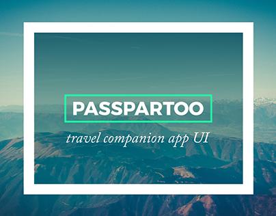 PASSPARTOO Travel app UI/UX