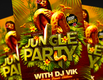 Jungle Party Flyer