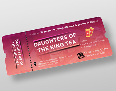 Ticket design for an Event