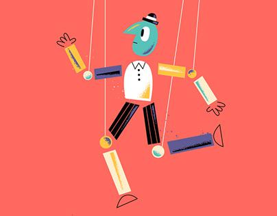 """Illustrations for """"Little Manipulator"""" children's book"""