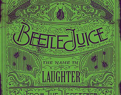 Beetlejuice Typographic Props