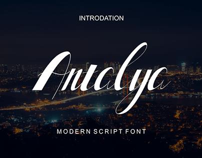 Antalya-modern script