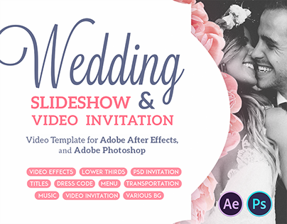 Wedding Slideshow and Invitation | After Effects Templa