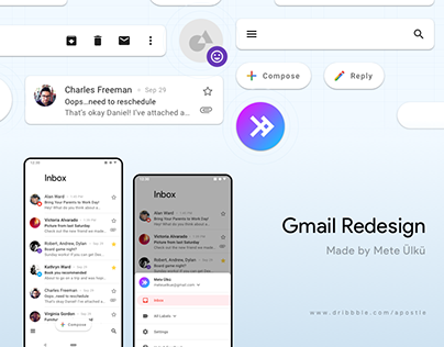 Gmail Redesign Concept - Material Design 2.0