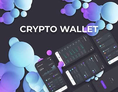 Crypto Wallet App Design | blackchain
