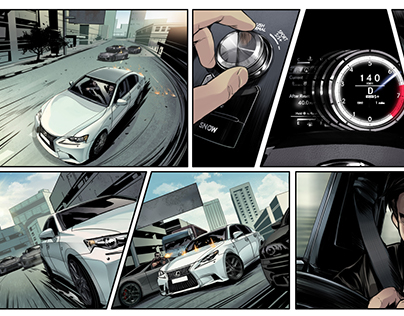 Lexus Social Media Interactive Comic