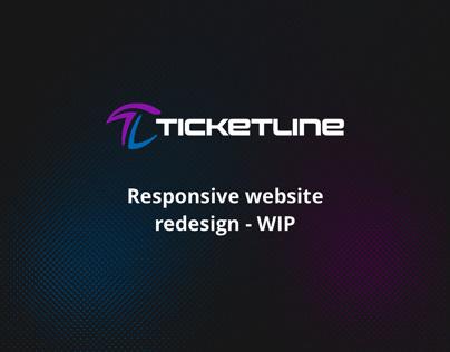 Ticketline Responsive Website Redesign - WIP 01