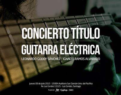 Diseño Concierto  - Guitarra Eléctrica