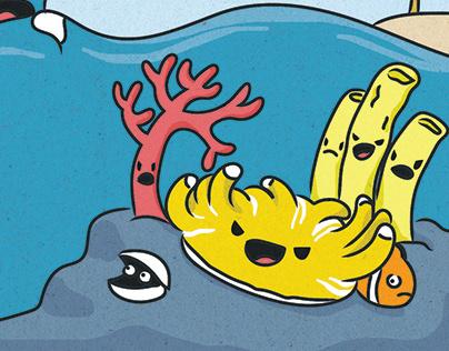 Meme-inspired coral comic