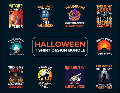 Halloween T-Shirt Design Bundle - V1