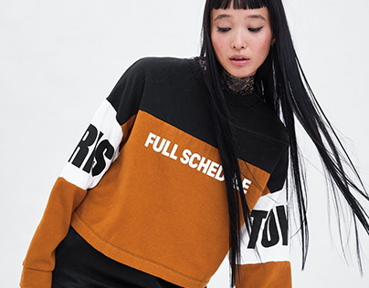 Colorblock sweatshirt FULL SCHEDULE - ZARA TRAFALUC