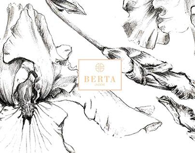 Floral illustrations for Lingerie brand