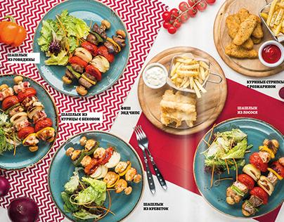 kidzania menu design and photo