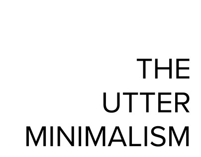 The Utter Minimalism Personal Brand