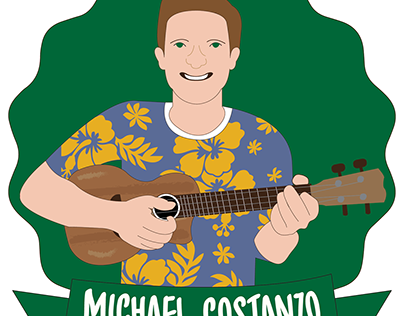 Michael Costanzo Business Card and Characature