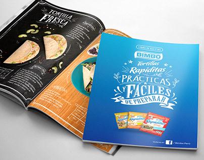 "Recetario tortillas ""Rapiditas"" BIMBO"