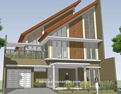 Desain Arsitektur Tropis Moderen di Citraland Surabaya