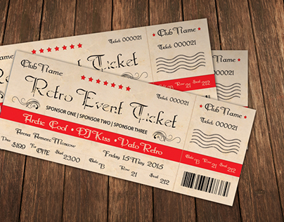 Retro Event Ticket