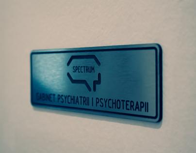 Spectrum - psychiatry, psychotherapy (visual identity)