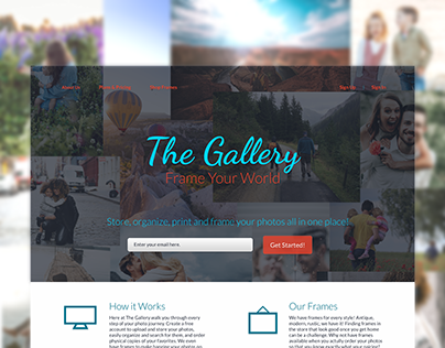 The Gallery Landing Page