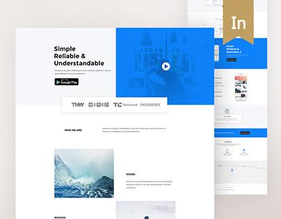 App Landing Page (concept)