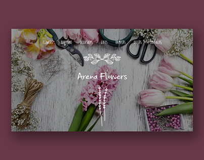 Website design for Flower shop