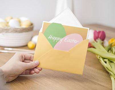 Easter Card Mockup 2