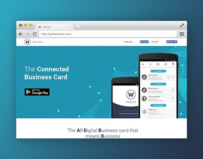 WizCard: Landing Page