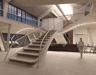 Loft Panzerhalle Architectural Visualization