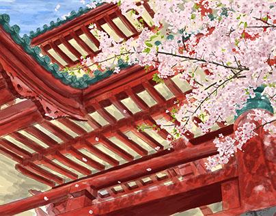 In Spring: Illustration