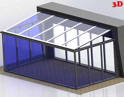 3D Kış Balkonu (winter balcony)