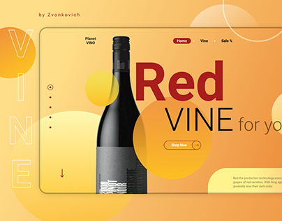 Home screen for a wine store
