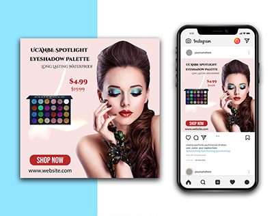 Beauty product Eyeshadow Instagram Template