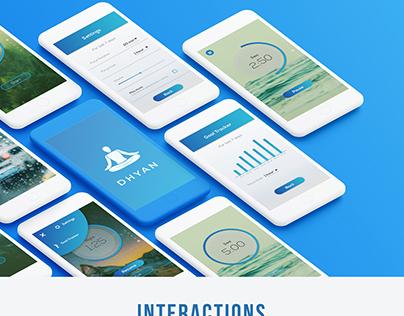 UI design | Dhyan - App for Mediation