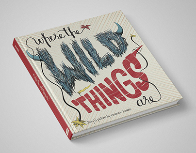 """Where the Wild Things Are"" Hand-Lettered Book Cover"