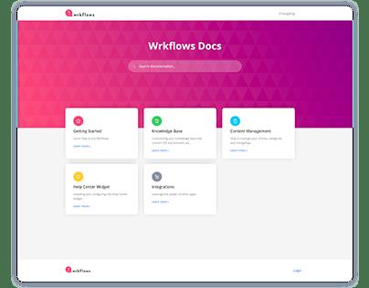 Wrkflows app & marketing site 2018