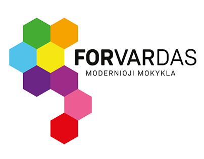 FORVARDAS Modern School logo design