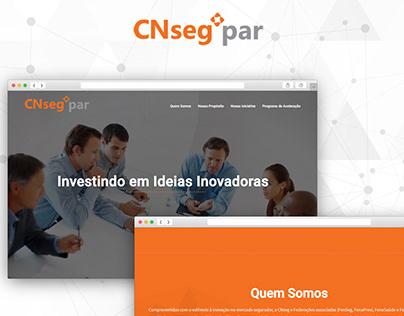 Web Design - CNseg Participações (one page layout)