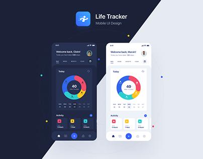 Life Tracker - Mobile UI Design
