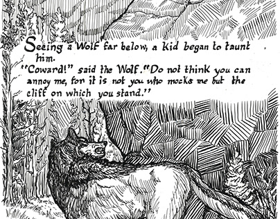 Aesop's Fable - The Kid and the Wolf