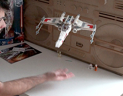 Lego 9493 X-Wing build and take off