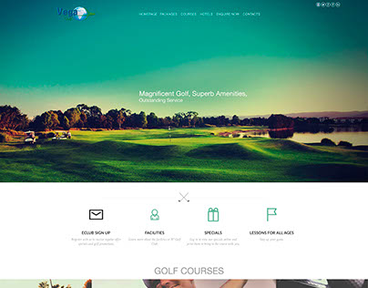 Web Protype, Golf Travel Company