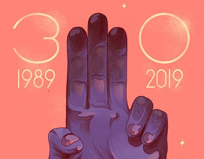 1989: Velvet revolution