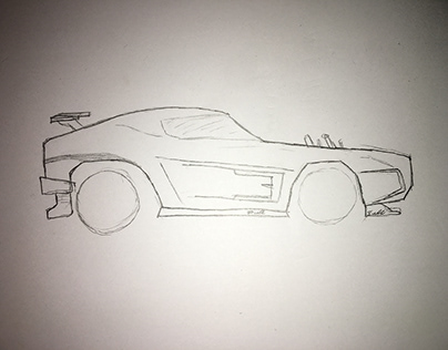 Graham Sullivan On Behance Dominus speed draw | rocket league sketch. graham sullivan on behance