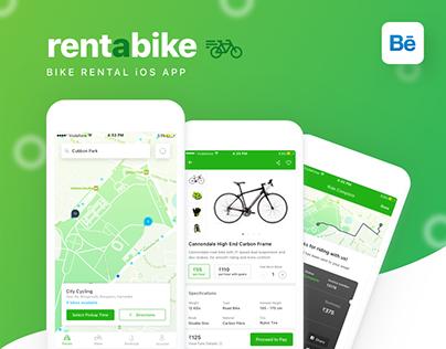 RentaBike - Bike Rental iOS App Concept 🚴🏻
