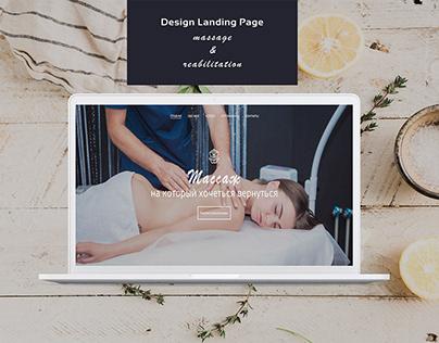 Massage & Rehabilitation Landing Page